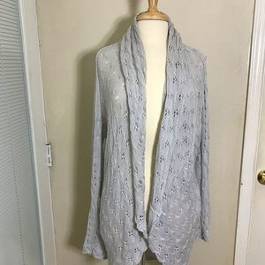 Only Mine open knit open cardigan gray M